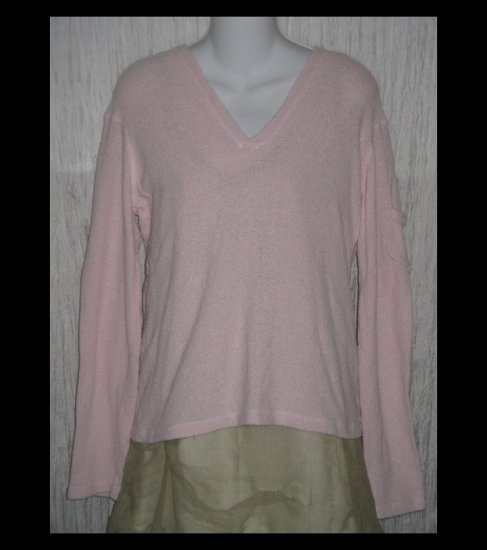 J.  Jill Soft Pink Silk Knit Hooded Pullover Sweater Top Medium M