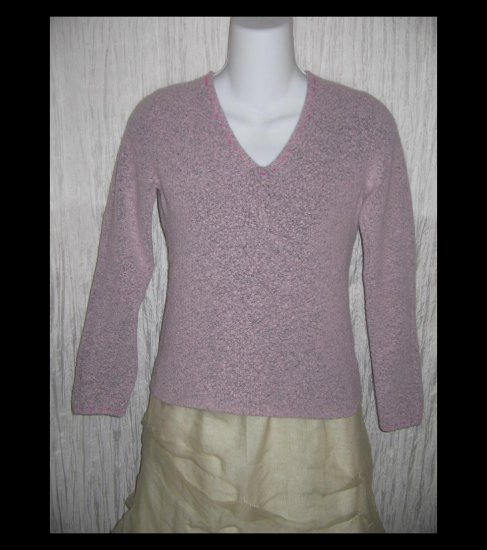 SIGRID OLSEN Sport Soft Pink Nubby Knit Pullover Sweater Top X-Small XS