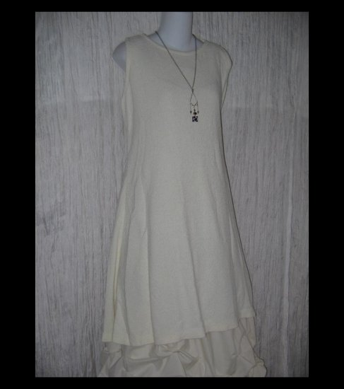 Stephanie Schuster for Princess Knitwear Cream A-Line Tunic Sweater Top Medium M