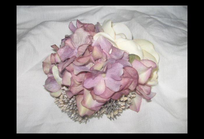 NEW Ever & Anon Whimsical Art to Wear Pin 'Arborescens Lavande' Floral Bouquet Brooch