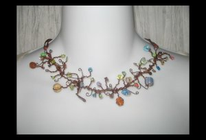NEW Ever & Anon 'Kallisti's Garden' Whimsical Art to Wear Necklace