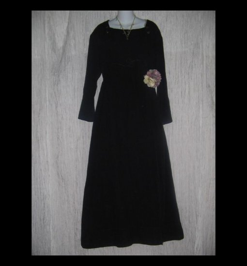 KRISTA LARSON Long Black Winding Ribbon Dress One Size