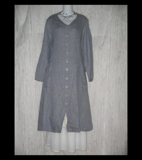 New Flax Shapely LINEN Duster Dress Jacket Jeanne Engelhart Small S