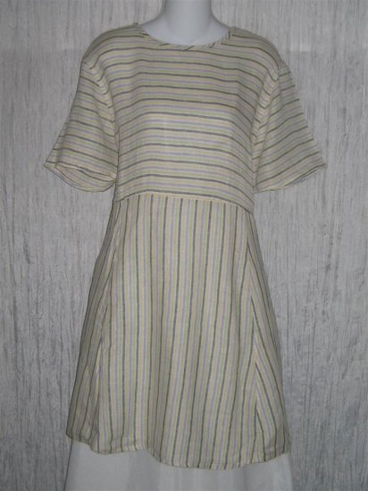 FLAX by Jeanne Engehart Short Shapely Tunic Dress Small S