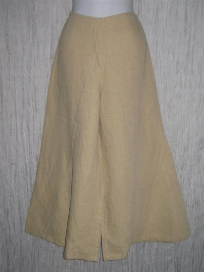 New LILITH of France Linen & Silk Wide Leg Gauchos Pants Medium M