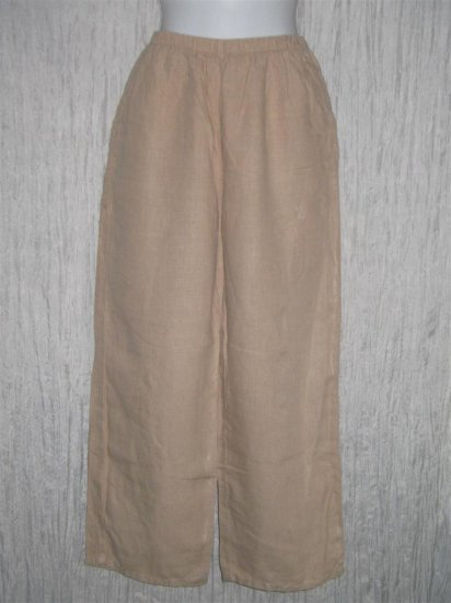 J. Jill Earthy Beige Loose Linen Pants X-Small XS