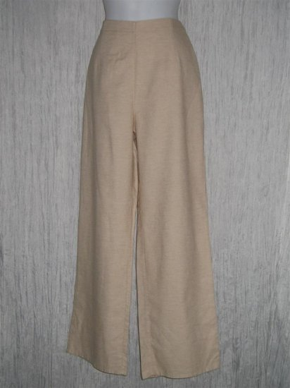 New FLAX Soft Shapely Organic Cotton Floods Pants Small S