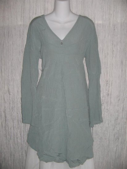 FLAX by Jeannge Engelhart Shapely Tunic Top Shirt Dress Small S