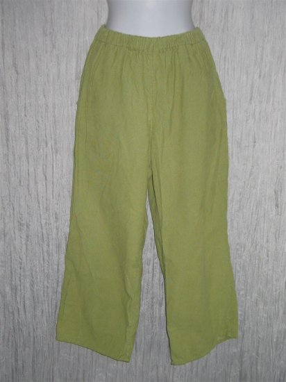 FLAX Green Cotton Corduroy Pants Jeanne Engelhart Medium M