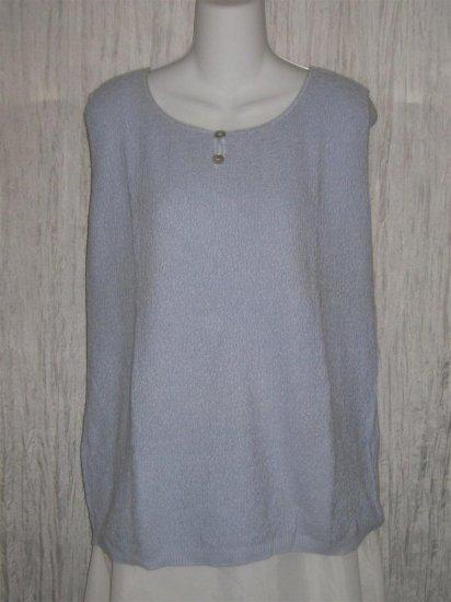 Summer Field Street Soft Blue Knit Pullover Tank Top 2X