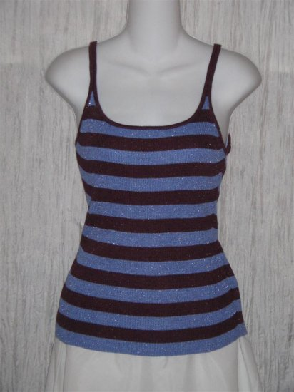 GAP Purple Sparkle Striped Knit Tank Top Shirt Medium M