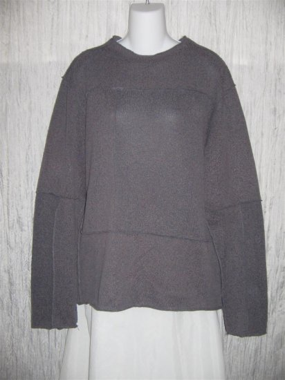 Toku Muted Purple Inside Out Seams Tunic Sweater XL