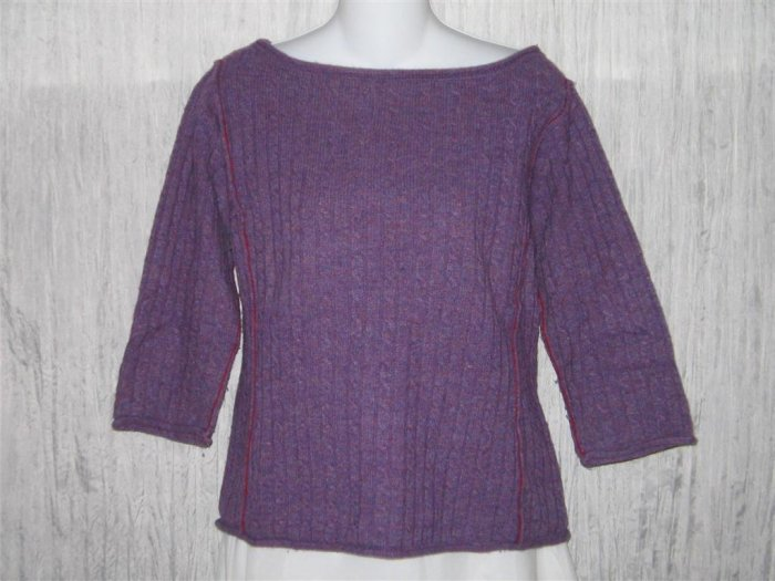 Free People Purple Lambswool Pullover Sweater Top Large L