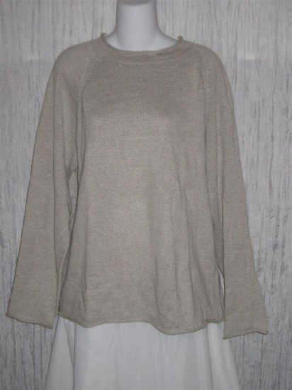 J. Crew Gray Linen Cotton Knit Pullover Sweater Top Small S