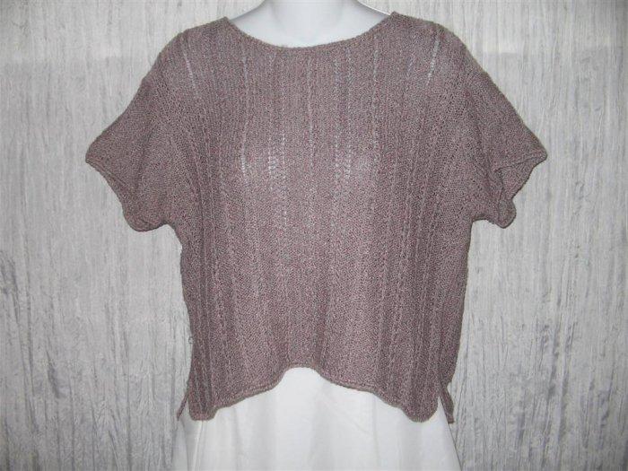 Sigrid Olsen Slinky Purple Knit Pullover Sweater Top Medium M