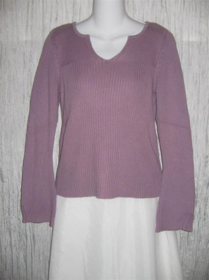 J. Jill Purple Ribbed Knit Pullover Shirt Top Small S