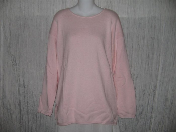 Coldwater Creek Soft Pink Cotton Knit Tunic Sweater Top S M