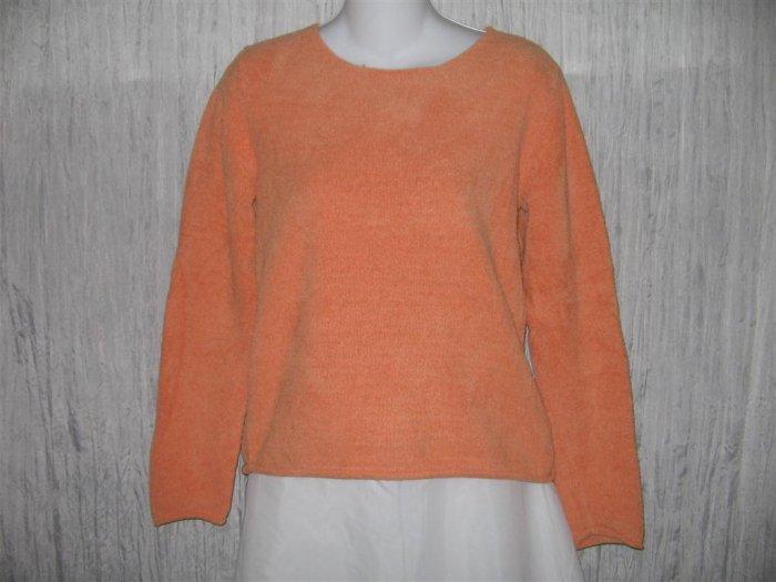 J. Jill Soft Orange Chenille Knit Pullover Sweater Top X-Small XS