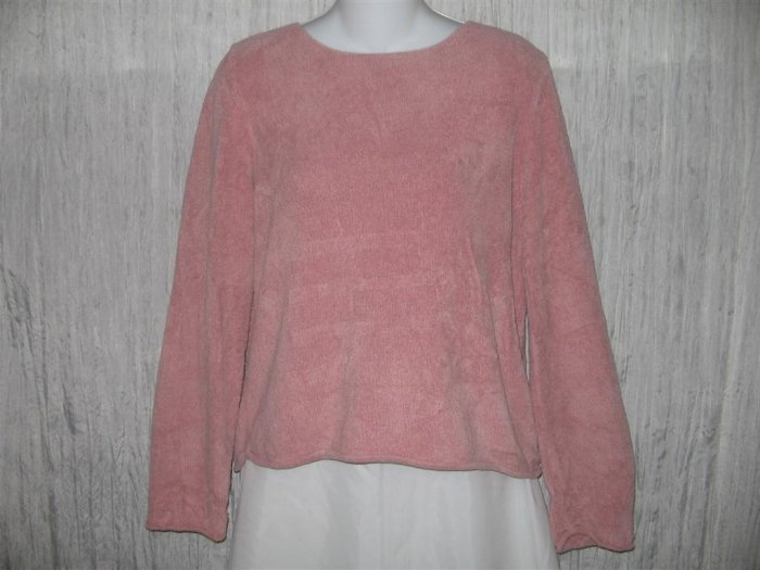 J. Jill Soft Pink Chenille Knit Pullover Sweater Top Medium M