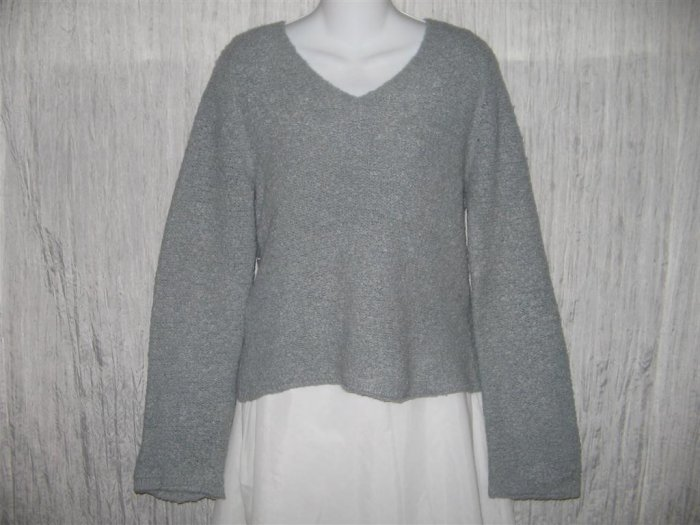 J. Crew Soft Blue Gray Nubby Knit Pullover Sweater Top XL
