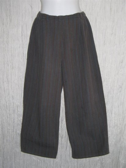 FLAX Blue Gray Cotton Pants Jeanne Engelhart Small S