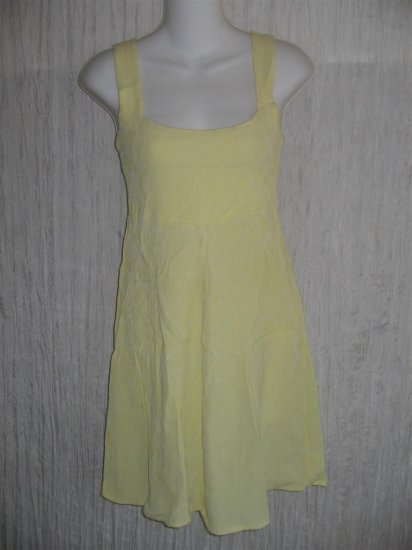 R-CLAN by Jeanne Engelhart Flax Shapely Yellow Dress Small S