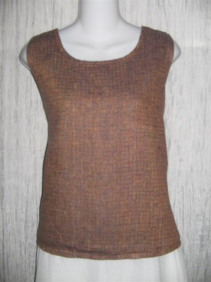Jeanne Engelhart FLAX Linen Tank Top Shirt Medium M