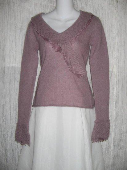 New Ventilo La Colline Soft Purple Mohair Wool Sweater Top S M