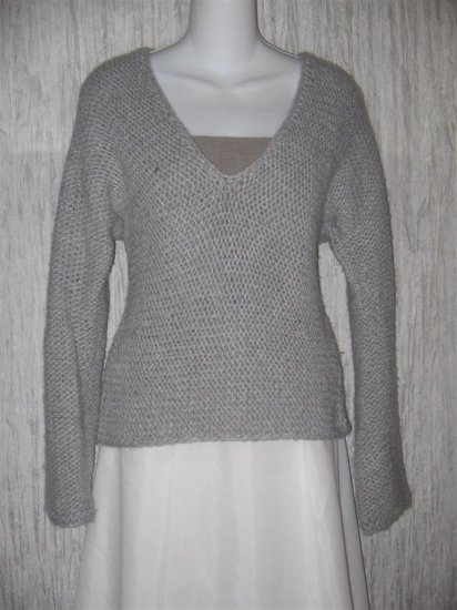 J. Jill Loose Knit Gray Wool Sparkle Pullover Sweater Top X-Small XS