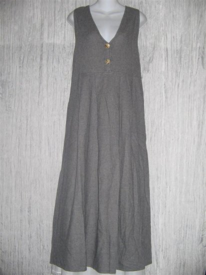 FLAX by Angelheart Gray Wool Boxy Pleat Jumper Dress Small S