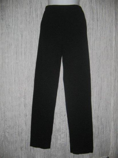 EILEEN FISHER Long Lean Shapely Black Wool Knit Pants X-Small XS