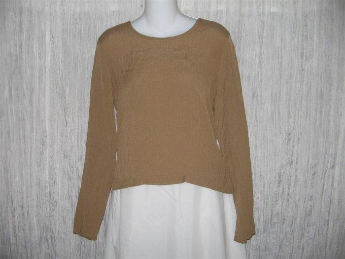 FLAX Slinky Tunic Top Shirt Jeanne Engelhart Small S