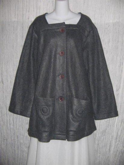 CLOTHESPIN Soft Gray Fleece Swing Jacket Coat Medium M