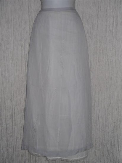 River Road Long & Full Embroidered Lilac Skirt Medium M