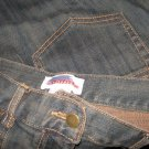 SOLITAIRE Loose Cut Dark Artsy Denim Jeans 12 / 14