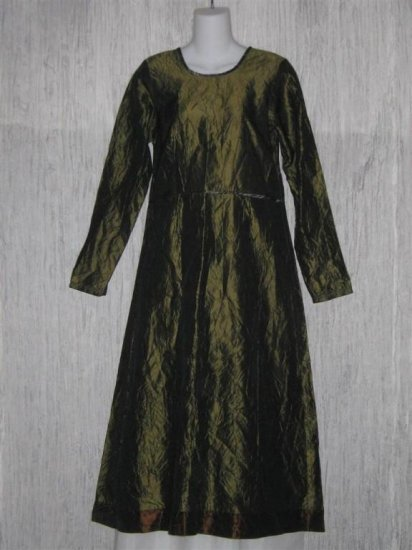 Neesh by D.A.R. Long Forest Green Empire Waist Dress S M