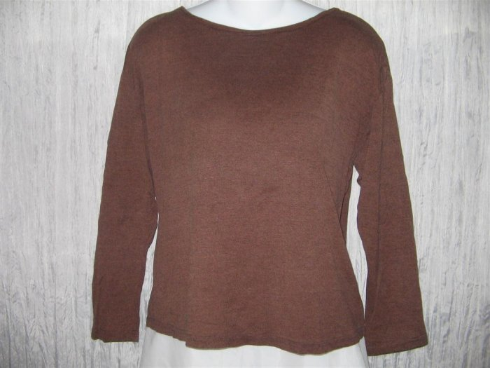 PUTUMAYO Soft Brown Knit Pullover Shirt Top SMALL S