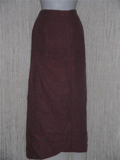 FLAX by Jeanne Engelhart Assymetrical Berry Striped Skirt Medium M