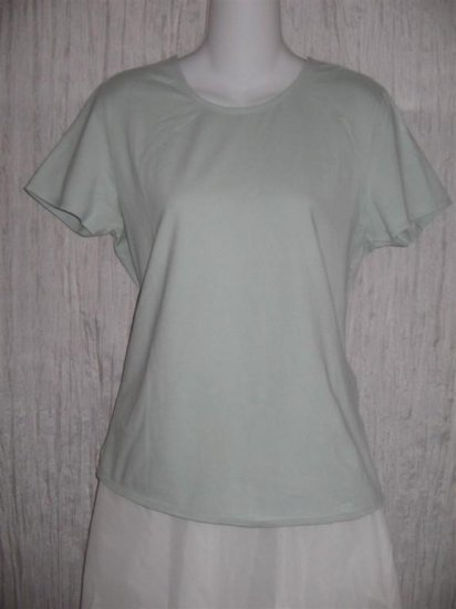 J. Jill Soft Blue Cotton Short Sleeves Simple Tee Shirt Top Large L