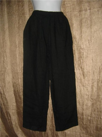 GINZA Boutique Black LINEN Pants Size 1 Small S