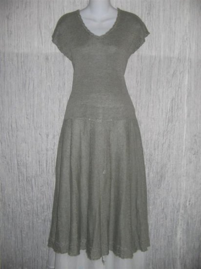 Angelheart Designs by Jeanne Engelhart Linen Sweater Dress Flax Medium M