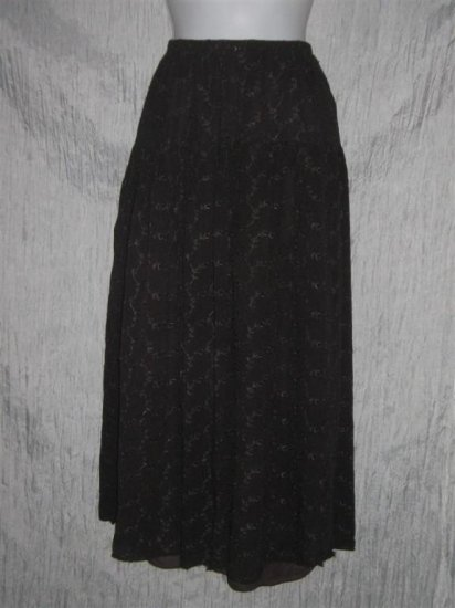 PURA Long Full Gray Eyelet Skirt Size 1 Small S