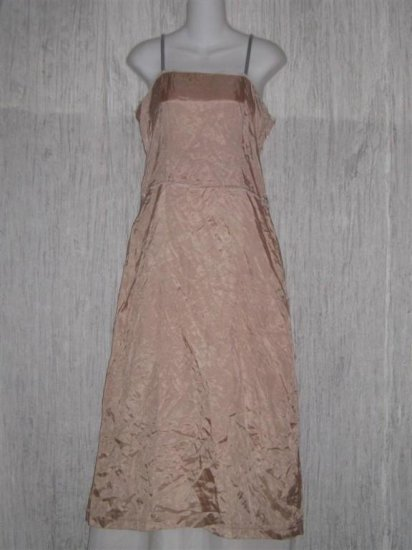 Neesh by D.A.R. Pink Slinky Velvet Ribbon Slip Dress Medium M