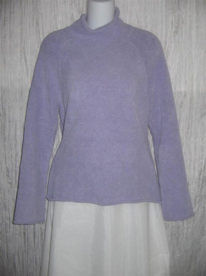 J. Jill Soft Nubby Purple Turtleneck Tunic Sweater Small Petite SP