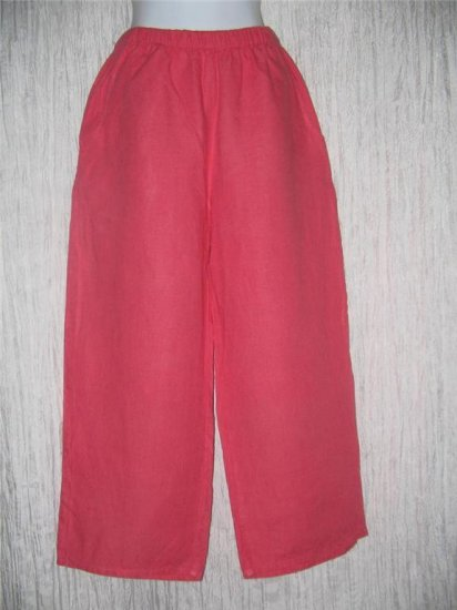 FLAX Rose LINEN Floods Pants Jeanne Engelhart Small S