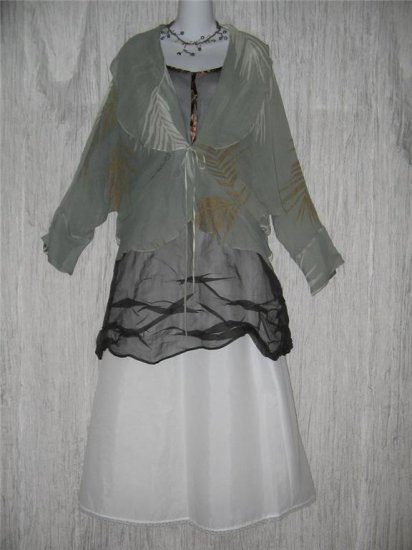 NWT Susan Unger Hand Dyed Art to Wear Titania Jacket Aqua Palm M