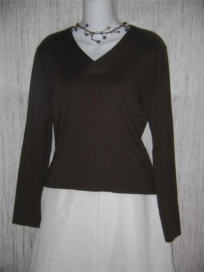 J. Jill Dark Chocolate Brown Cotton Knit Pullover Sweater X-Small XS