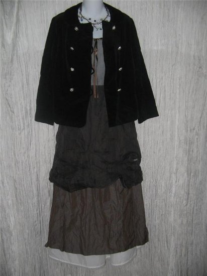 Junior House Fitted Black Vintage Velvet Jacket Coat 13