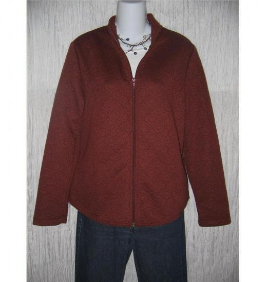 WEEKENDERS Soft Russet Swirl Knit Zipper Jacket Medium M