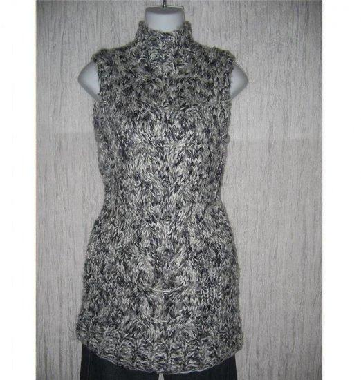 SEBO Paris Long Gray Wool Skinny Sweater Tunic Dress Small S